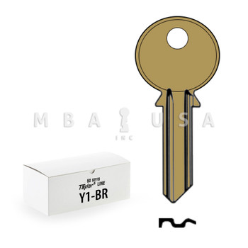 Ilco Taylor Key Blanks, Yale Y1, Brass (50 Pack)