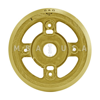 Dial Ring, Front Reading, Satin Brass