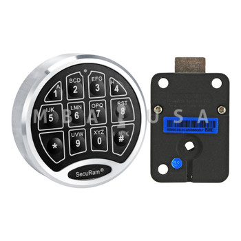 "SAFELOGIC BASIC DIRECT DRIVE LOCK W/ CHROME KEYPAD & 6"" SPINDLE"