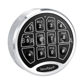SecuRam SafeLogic Basic Direct Drive Keypad Only, Chrome Finish