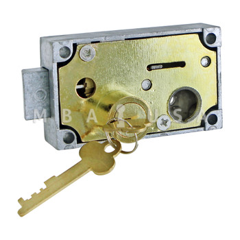 SINGLE NOSE FIXED LEVER SD LOCK, RIGHT HAND, BRASS
