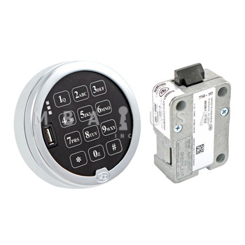 Digital Audit 2.0 Spring Bolt Lock w/ Chrome Keypad
