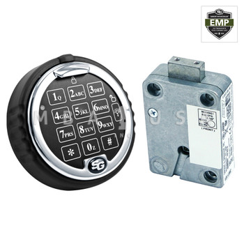 TITAN DIRECT DRIVE (DEADBOLT) LOCK & ROTATING LIGHTED BRIGHT CHROME KEYPAD