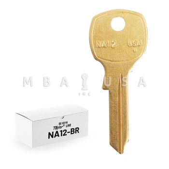 ILCO TAYLOR KEY BLANKS, NATIONAL NA12, BRASS (50 PACK)