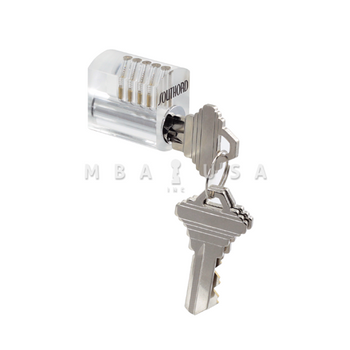 VISIBLE PIN TUMBLER PRACTICE LOCK WITH STANDARD PINS