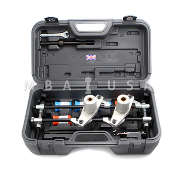 The Small Bore Package fits comfortably and securely in existing DBB Morticer cases and kits, which are sold separately.