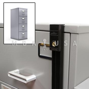 "4-DRAWER 51.25"" Bar Length - File Cabinet Lock"