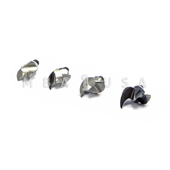 PLUNGING CUTTER ASSORTMENT  (INCLUDES 4 DIFFERENT SIZES)