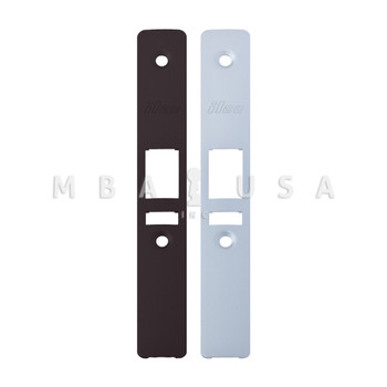 """LATCH BOLT LOCK 31/32"""" BACKSET (RIGHT HAND), 2 MORTISE KEY CYLINDERS - 1"""" SCHLAGE C (DARK BRONZE) AND 2 FACEPLATES"""