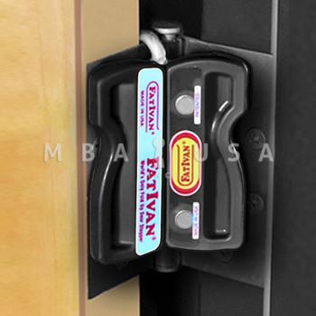 Fativan Fold-Up Door Stop W/ Magnets - Black