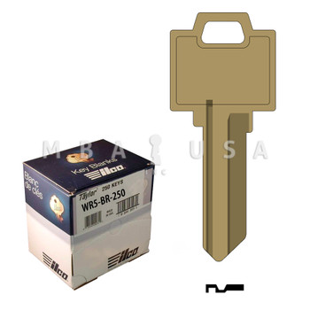 Ilco Taylor Key Blanks, Weiser WR5, Brass (250 Pack)