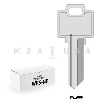 Ilco Taylor Key Blanks, Weiser WR5, Nickel Plate (50 Pack)