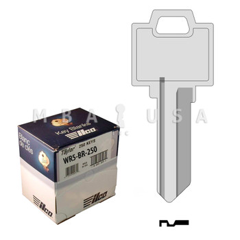 Ilco Taylor Key Blanks, Weiser WR5, Nickel Plate (250 Pack)