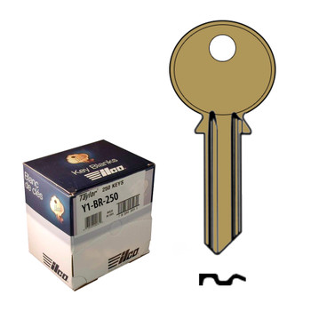 Ilco Taylor Key Blanks, Yale Y1, Brass (250 Pack)