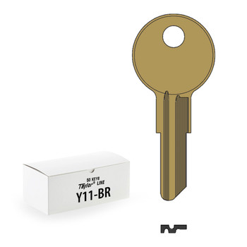 Ilco Taylor Key Blanks, Yale Y11, Brass (50 Pack)