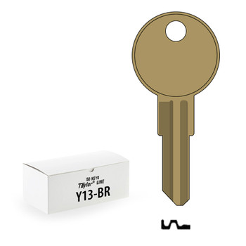 Ilco Taylor Key Blanks, Yale Y13, Brass (50 Pack)