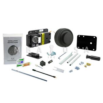 Kaba-Mas CDX-10 Lock Package w/ #2 Strike, Black Finish, Pedestrian Door Application