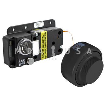 Kaba-Mas CDX-10 Lock Package w/ #9 Strike, Black Finish, Pedestrian Door Application