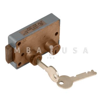 ORIGINAL YALE B201 SAFE DEPOSIT LOCK, RIGHT HAND, YSY3 G-KEY, RECONDITIONED