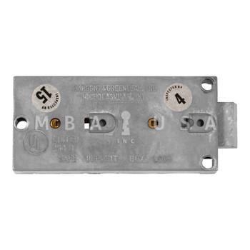 "ORIGINAL S&G SAFE DEPOSIT LOCK, 1/2"" NOSES, DBL CHG, BRASS, NEUTRAL GUARD, PAIR OF RENTER KEYS, RECONDITIONED"