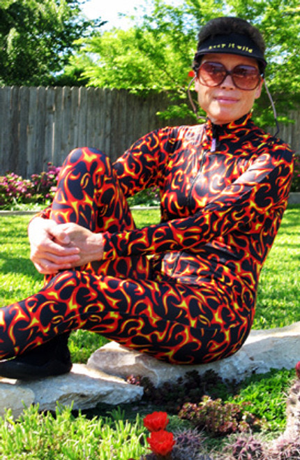 HOT STUFF Unisex Patterned Lycra Diving Suit