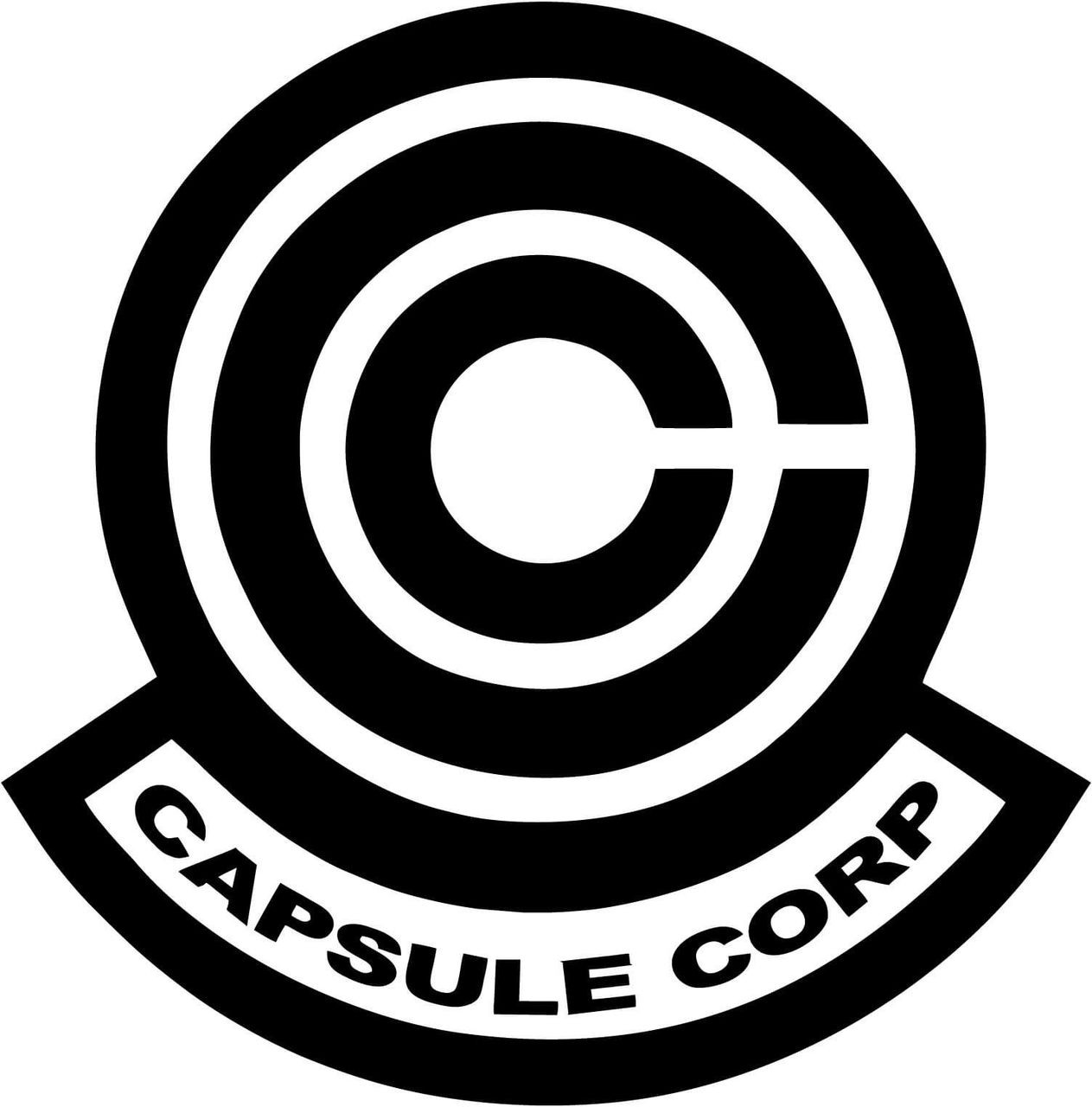 Dragon Ball Z Capsule Corp Logo Black Pearl Custom Vinyls