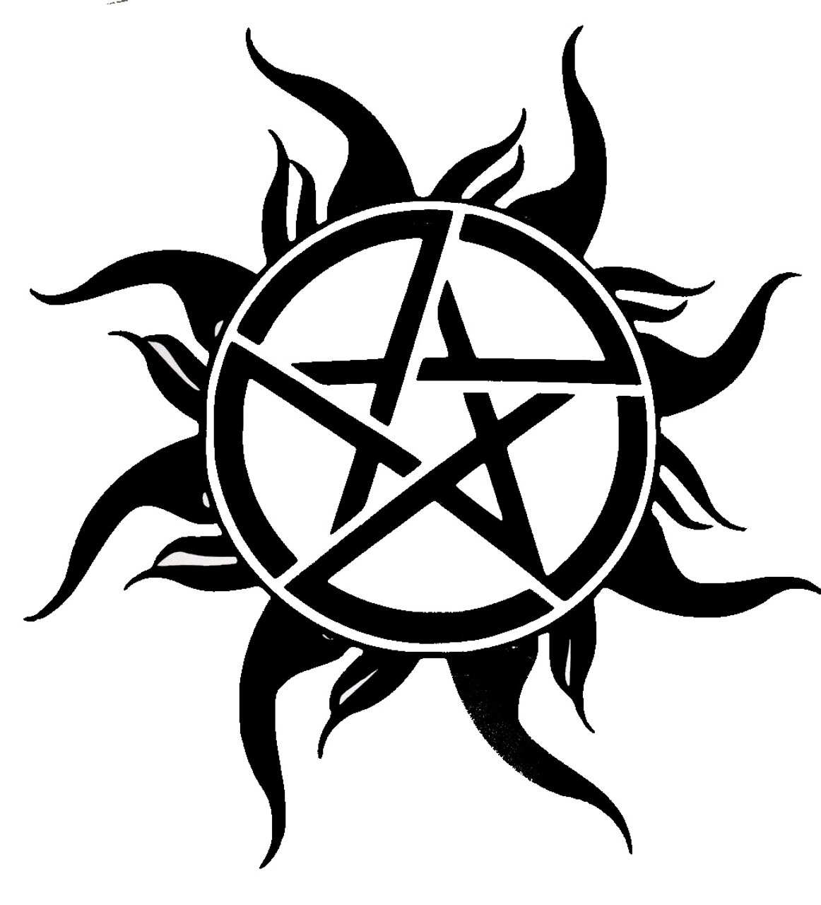 Supernatural Anti Possession Symbol Pentagram