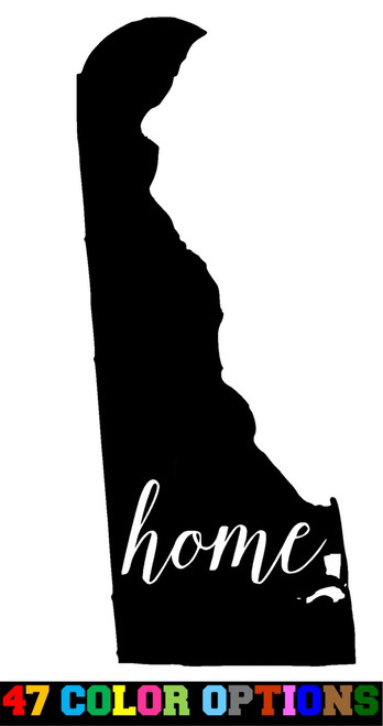 Home State Outline USA Delaware
