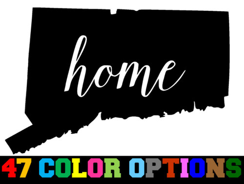 Home State Outline USA Connecticut