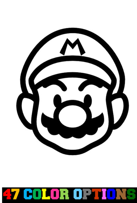 Video Games Super Mario Bros Face v2