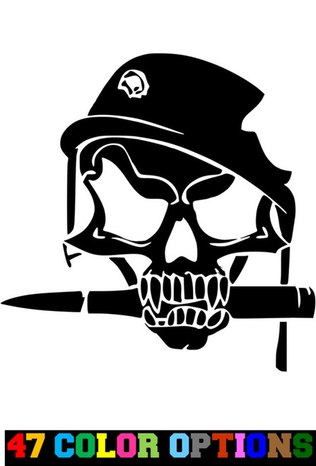 Military Army Guns Ammo Skull