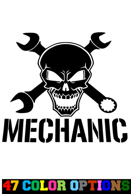 Mechanic Ironworker Wrenches Skull