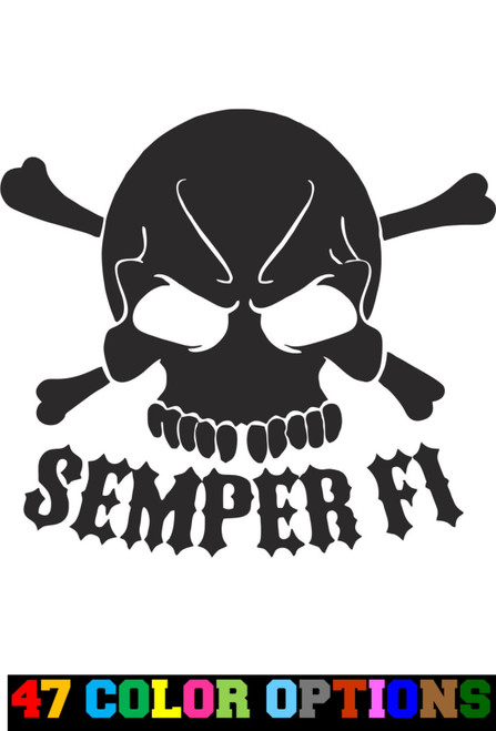 Military Patriot Semper Fi Skull