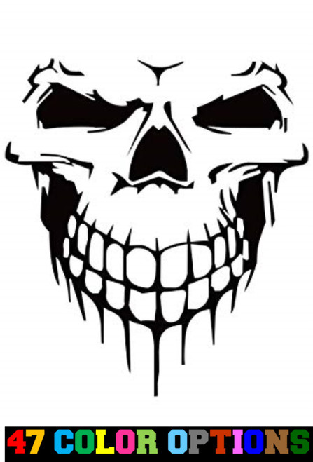 Horror Zombie Halloween Smiling Skull