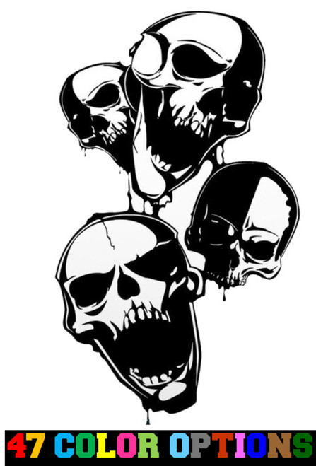 Horror Zombie Halloween Skull Group v2