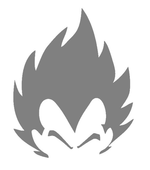 DIY Art Paint Reusable Stencil Silhouette - Dragon Ball Z Vegeta Head