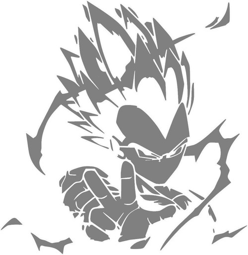 DIY Art Paint Reusable Stencil Silhouette - Dragon Ball Z Super Saiyan Vegeta