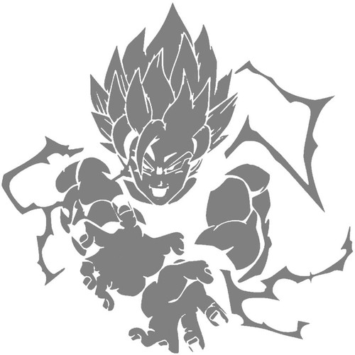 DIY Art Paint Reusable Stencil Silhouette - Dragon Ball Z Super Saiyan Goku