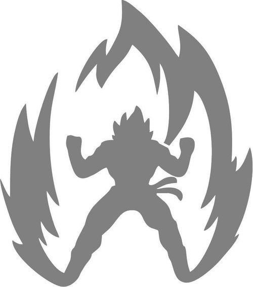 DIY Art Paint Reusable Stencil Silhouette - Dragon Ball Z Goku Powering Up