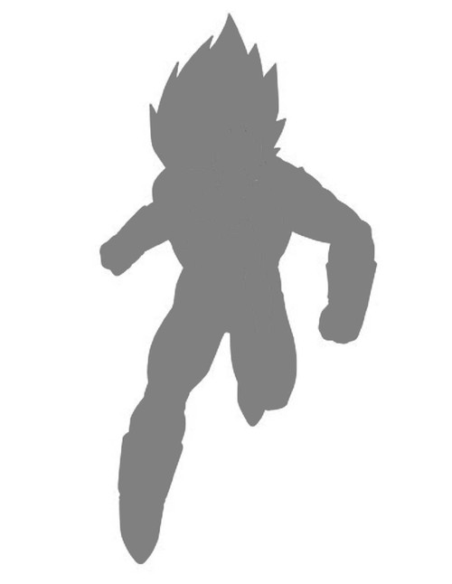 DIY Art Paint Reusable Stencil Silhouette - Dragon Ball Z Super Saiyan Vegeta 2