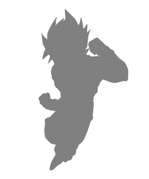 DIY Art Paint Reusable Stencil Silhouette - Dragon Ball Z Super Saiyan Goku V2
