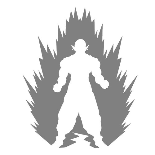 DIY Art Project Paint Reusable Stencil Silhouette - Dragon Ball Z Piccolo
