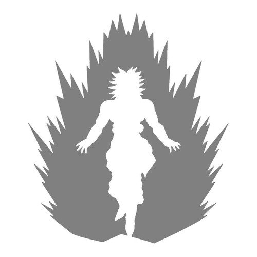 DIY Art Project Paint Reusable Stencil Silhouette - Dragon Ball Z Saiyan Broly