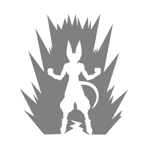 DIY Art Project Paint Reusable Stencil Silhouette - Dragon Ball Z Beerus