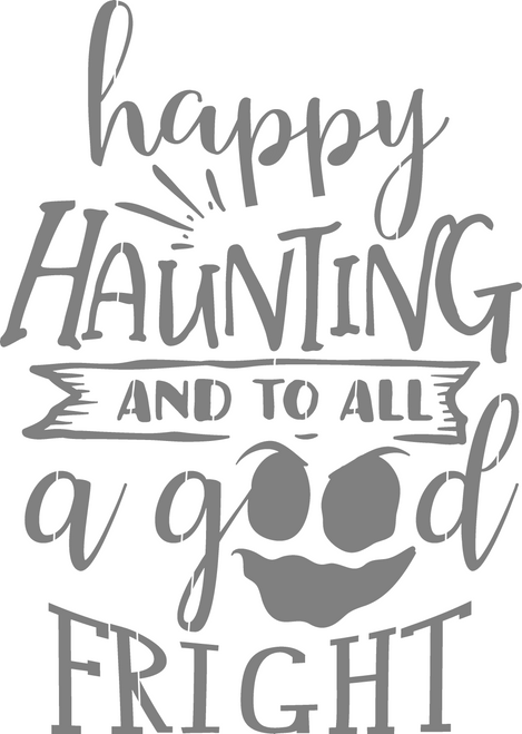 DIY Art Project Paint Reusable Stencil Silhouette - Halloween Happy Haunting