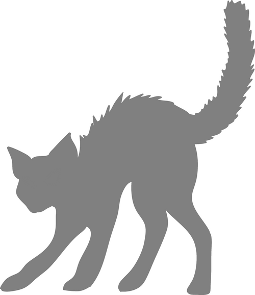 DIY Art Project Paint Reusable Stencil Silhouette - Halloween Black Cat