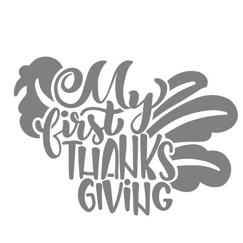 Art Paint Reusable Stencil Silhouette - Baby My First Thanksgiving
