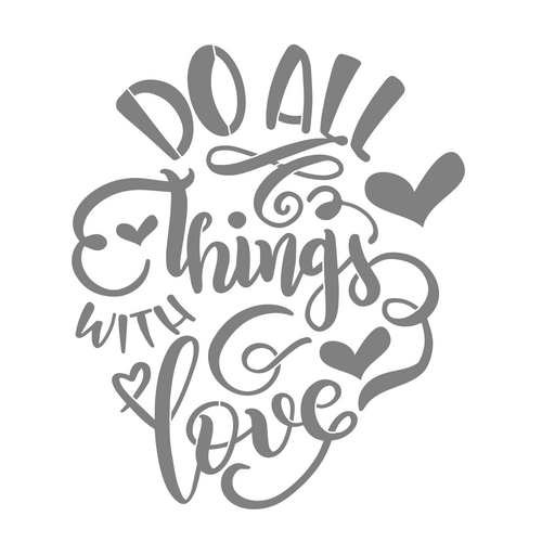 Art Paint Reusable Stencil Silhouette - Thanksgiving Do All Things With Love