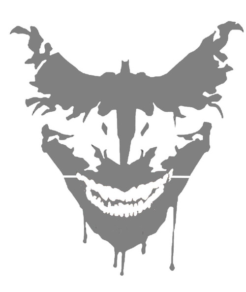 DIY Art Project Paint Reusable Stencil Silhouette - Batman Joker Dripping Smile