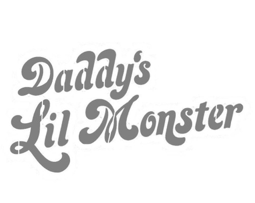Art Paint Reusable Stencil Silhouette - Harley Quinn Daddy's Little Monster